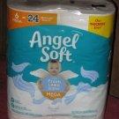 (1) Package Of (6) Mega Rolls Angel Soft Toilet Paper Fresh Linen Scented Tube 6=24 regular rolls