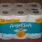 (1) Package Of (12) Mega Rolls Angel Soft Toilet Paper 12 Mega = 48 Regular Rolls.