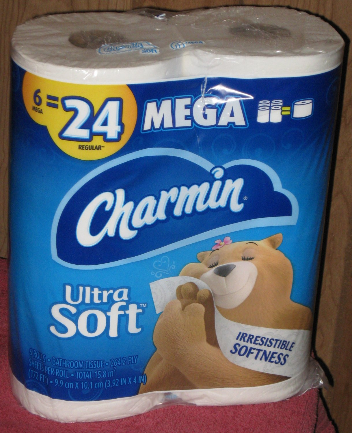 (1) Package Of (6) Mega Rolls Ultra Soft Charmin Toilet Paper 6=24