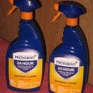 (2) 32 FL. OZ  Spray Bottles Microban Bathroom Cleaner 24 Hour Citrus Scent