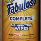 Container Of (35) Fabuloso Complete Disinfectant Wipes Lemon Scent