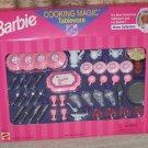 Box Set Barbie Cooking Magic Tableware Sealed Box (1998) Sealed Box