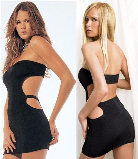 Slinky Strapless Open Back Dress