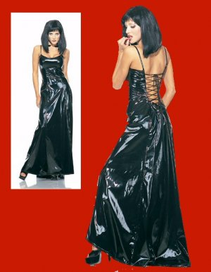 Vinyl Lace Up Ball Gown