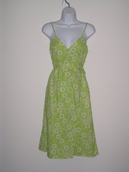 NWOT MOSSIMO sexy green hippie boho wrap sun dress ~ S