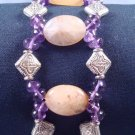 Amethyst and Citrine gemstone bracelet