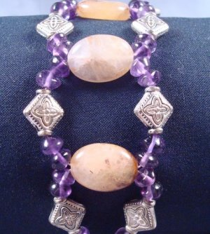 Amethyst and Citrine gemstone bracelet
