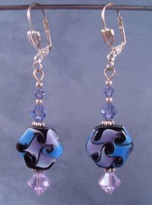 Amazing lampwork patterned beads