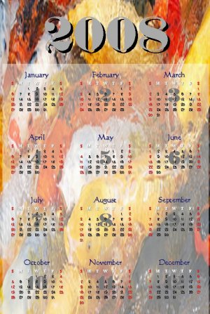 2008 KOI Fish Calendar