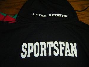 Black sportsfan hoodie