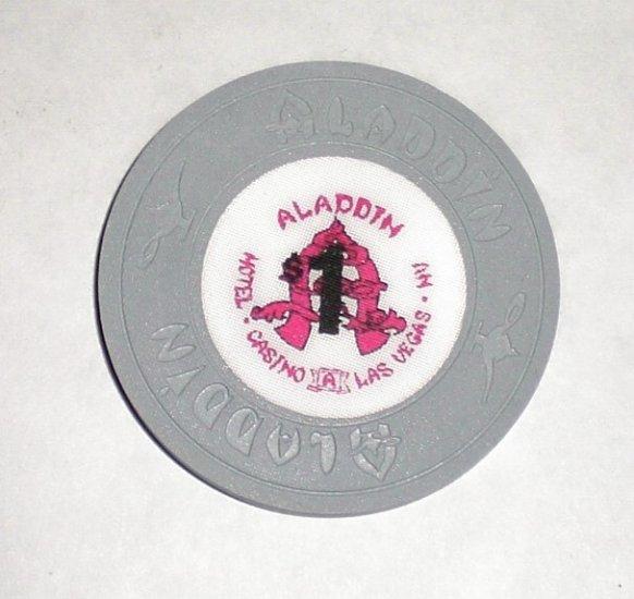 Old & Obsolete $1 Aladdin Casino Chip-Perfect Condition !