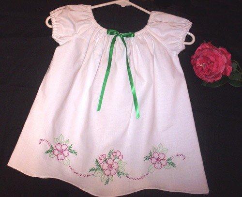 Vintage Pillowcase Dress - Noel - Peasant Style - Baby - Infant - Toddler - Little Girl Dress