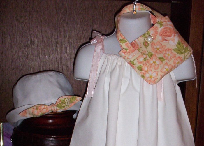 Peach Floral Hat and Purse - Little Girls - Toddler Girls