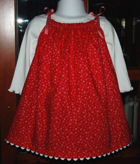 Let It Snow - Pillowcase Dress - Toddler Christmas Dress