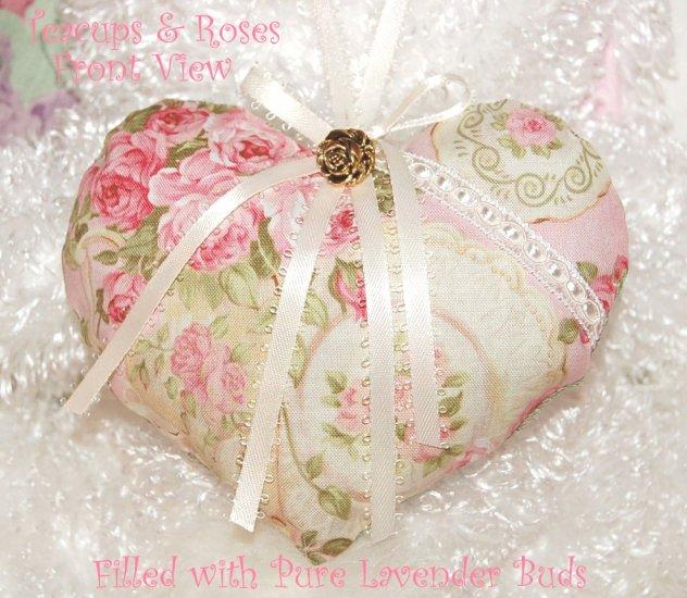 Teacups and Roses - Lavender Sachet - Heart Sachet - Mother Gift