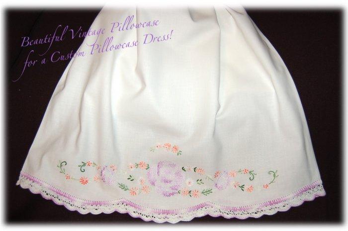 Lilly - Vintage Pillowcase Dress - Little Girls Heirloom Dress - Special Occasion Dress