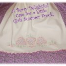 BerryDelight - Vintage Pillowcase Dress - Little Girl Beach Portrait Summer Dress