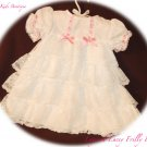 Frilly Lacey Baby Dress - Layered with Lace - Infant - Special Occasion Dress
