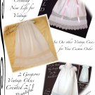 Victoria - Vintage Pillowcase Dress - Little Girls Portrait Dresses