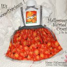 Boutique Altered Baby Couture Halloween Onesie - Apron Skirt Pinafore Style