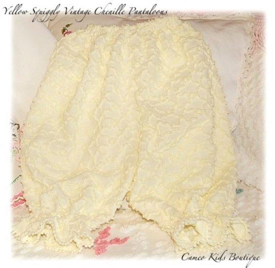 Chenille Pantaloons - Bloomers - Vintage Squiggle Chenille - Capri's - Pants