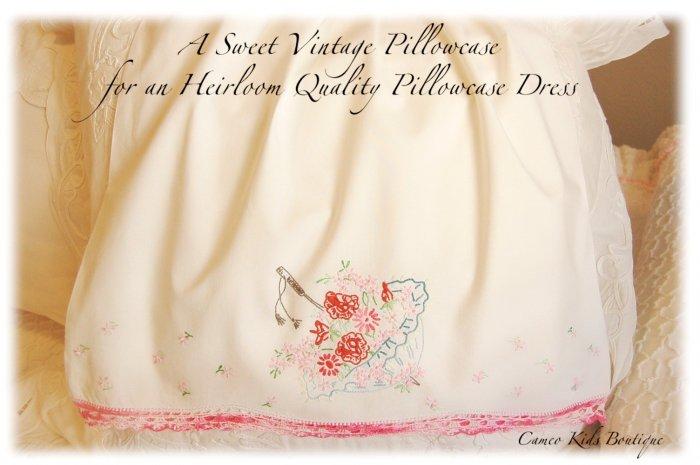 Anna - Vintage - Pillowcase Dress - Little Girls Boutique Couture - Heirloom Dress