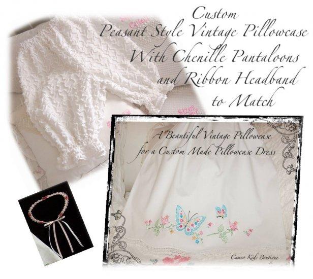 Special Request for Jamie Knestaut - Peasant Pillowcase Dress - Pantaloons - Headband