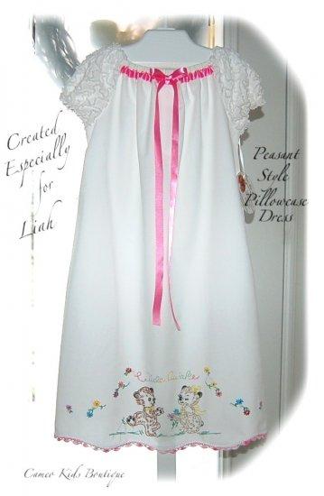 Vintage Pillowcase - Night Gown - Peasant Style - Nightgown - Wide Awake