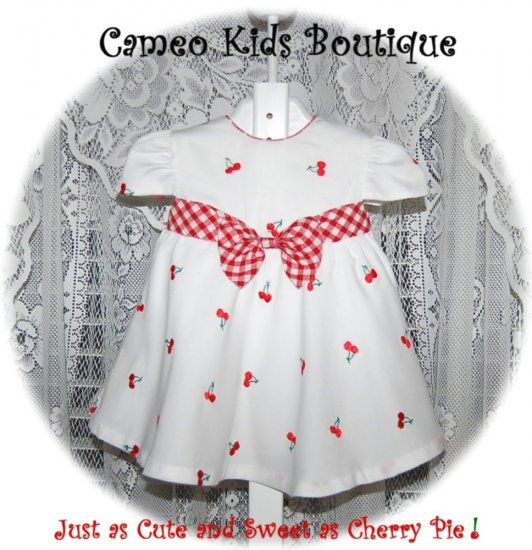 Little Bitty - Cherry Jublilee - Infant Little Girls - Dress - Resell - 12M - Embroidered