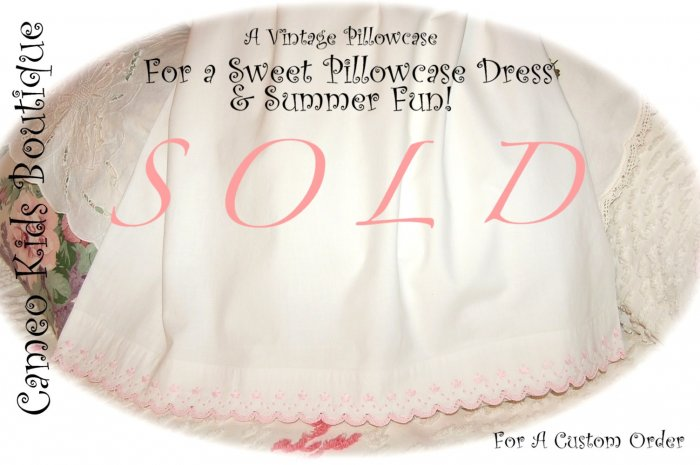 Kristen - Vintage Pillowcase Dress - Summer Dresses for Little Girls