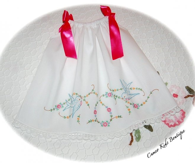 Special Request Order for Amy - Tasha - Pillowcase Dress and Pantaloons
