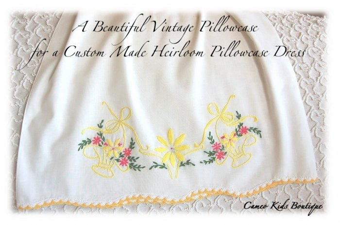 Sunni - Pillowcase Dress - Girls - Boutique Couture - Summer Dress - Hand Embroidered