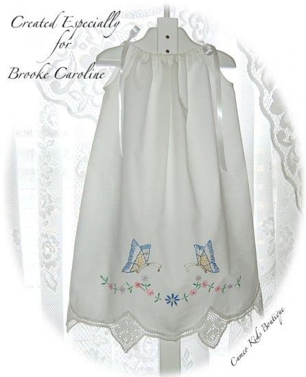Faith - Vintage Pillowcase Dress - Infant - Toddler - Little Girl - Dress