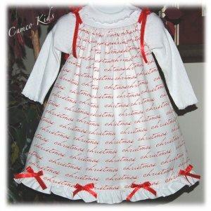 It's Christmas - Pillowcase Dress - Custom Made - Holiday Dress - Girl Christmas Dress