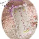 Special Request for Eileen - Lavender Sachet - Door Hanger - Hand Embroidered