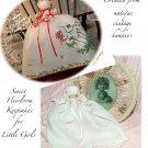 Custom Order for Bee - Vintage Christmas Hanky Doll - White Vintage Hanky Doll