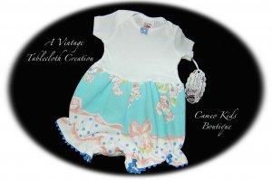 Infant - Baby - Bubble - Suit - Romper - Vintage Tablecloth