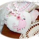 Pink - Chick - Heart Lavender Sachet - Pink Bird - Twitter Gift Idea