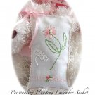 Special Request for Lilli - Rose - Hand Embroiderd Lavender Sachet - Personalized