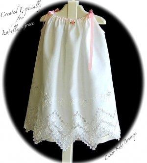 Special Request for Karri - Pillowcase Dress - White on White