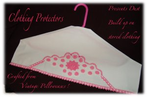 Pink Crochet - Unique Hanger Cover - Clothing Protector