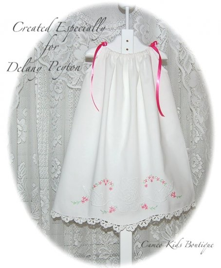 Caroline - Vintage Pillowcase Dress - Heirloom Dress for Little Girls