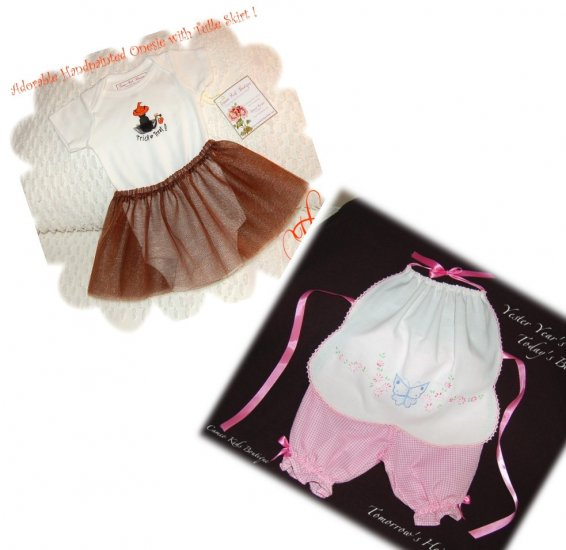 Special Request for Tara Only - Halter and Pantaloon Set - Halloween Onesie and Tulle Skirt