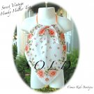 Recycled - Vintage Hanky - Halter Top - Little Girls - Orange Green Floral
