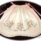 Natalya - Pillowcase Dress - Embroidered Lambs - Vintage Heirlooms for Little Girls