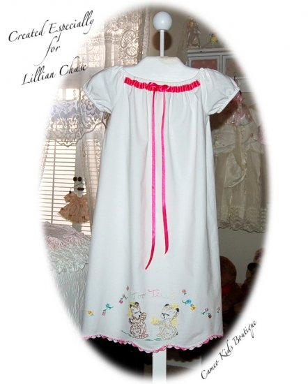 Vintage Pillowcase - Night Gown - Peasant Style - Nightgown - Too Tired