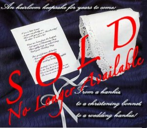 Christening Hankie Bonnet With Poem Gift - New Baby Gift Idea