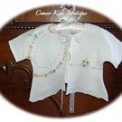 Vintage Embroidered Linen Baby Jacket 0 - 3M