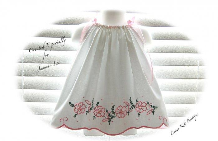 Cammie - Vintage Pillowcase Dress - Custom Order - Beach Portrait Dress - Little Girl Dress