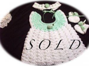 Baby Sweater Dress Set - Sofia - Preemie - Newborn - Baby - Girl